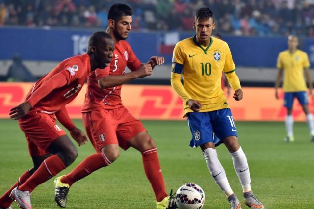 Neymar decide, e Brasil vence o Peru em estreia na Copa América NELSON ALMEIDA/AFP