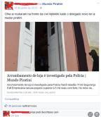 Homem debocha da polícia em rede social e é detido no sul do Estado Reprodução/Facebook