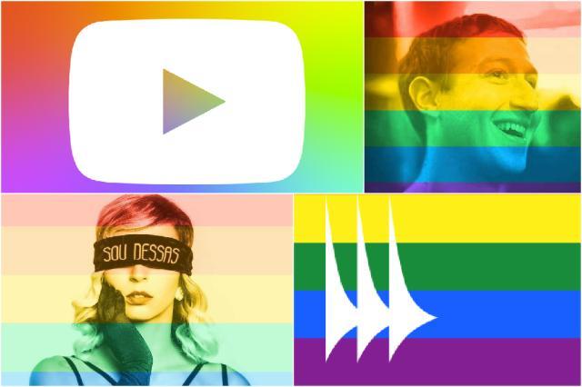 Menos de 2% dos usuários do Facebook utilizaram arco-íris em foto de perfil Montagem/Reprodução Facebook