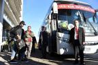 Seleção Brasileira deixa hotel em Concepción, no Chile NELSON ALMEIDA/AFP