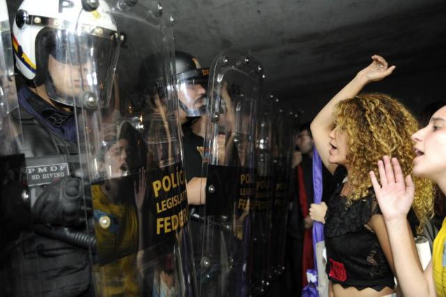 Polícia legislativa usa gás de pimenta contra manifestantes na Câmara Lucio Bernardo Jr./Câmara dos Deputados/Divulgação