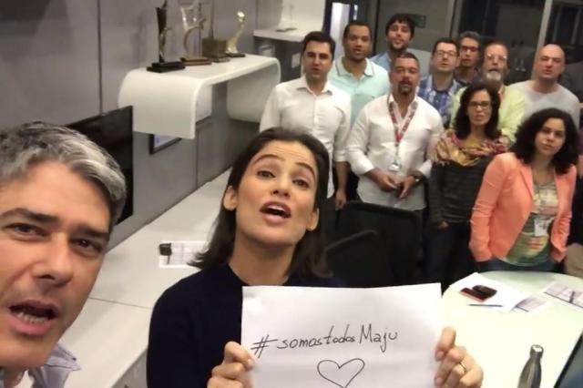 """Racismo contra Maju, apresentadora do Tempo Fazer """"Jornal Nacional"""", gera Campanha Reprodução / Facebook"""