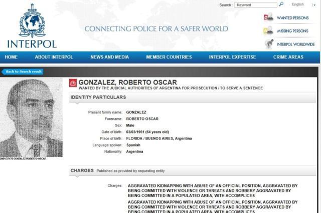 PF captura, em Viamão, policial argentino acusado de crimes durante ditadura Interpol/Reprodução
