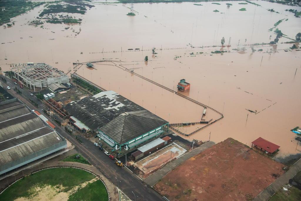Chuva alaga parte do parque Assis Brasil Fagner Almeida,ABCCC/ABCCC/Divulgação