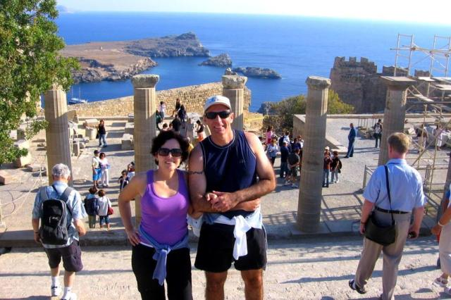 História e praias paradisíacas são o charme das ilhas gregas arquivo pessoal/Arquivo Pessoal