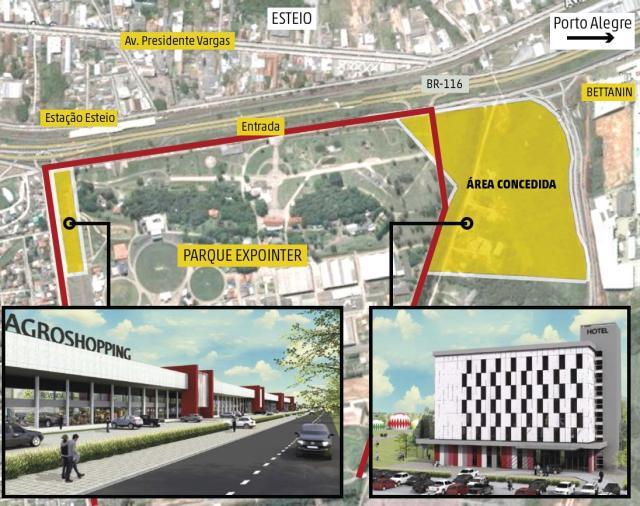 Parceria pode tirar do papel projeto para construir hotel e agroshopping no parque da Expointer ZH/