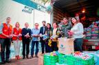 Grêmio entrega 7,5 toneladas de donativos para vítimas de enchente Karine Viana/Palácio Piratini