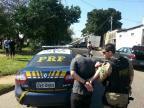 Perseguição acaba com suspeito preso após acidente na Capital Divulgação/PRF