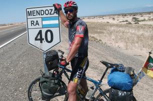 Rumo à Patagônia: gaúcho parte em aventura de bike pela Ruta 40 Reprodução/Arquivo pessoal