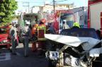 Mulher e adolescente ficam feridas em acidente com carro-forte em Santa Maria Maiara Bersch/Agencia RBS