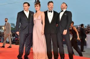 """Johnny Depp é aclamado em Veneza com """"Black Mass"""" GIUSEPPE CACACE/AFP"""