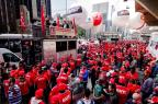 Trabalhadores fazem ato na Paulista e criticam medidas do governo DARIO OLIVEIRA/ESTADÃO CONTEÚDO