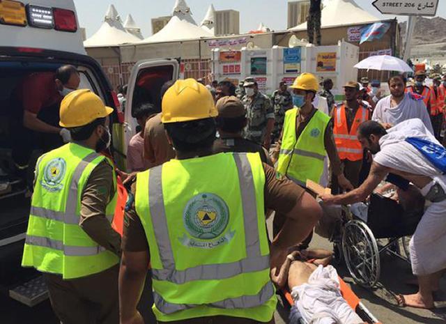 Tumulto durante peregrinação deixa mais de 300 mortos em Meca Saudi Civil Defence Directorate/AFP