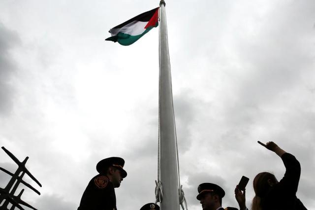 Bandeira da Palestina é hasteada na ONU pela primeira vez Spencer Platt/GETTY IMAGES NORTH AMERICA