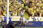 Em casa, Colômbia vence o Peru por 2 a 0 pelas Eliminatórias LUIS ACOSTA/AFP