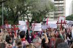 Movimentos sociais protestam em frente ao Palácio Piratini contra a violência da Brigada Militar  André Avila/Agencia RBS