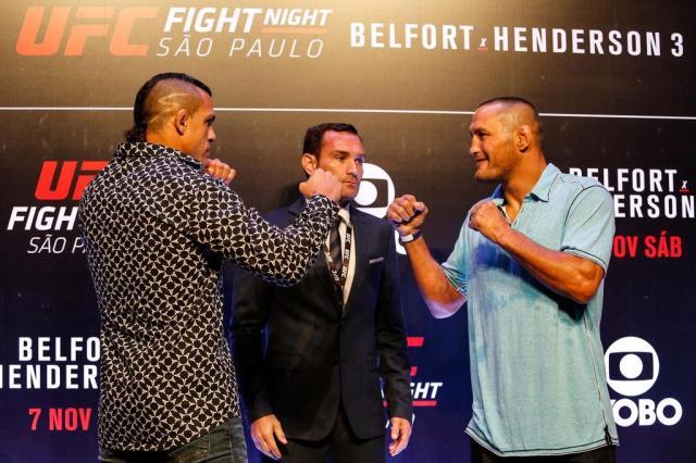 Belfort, Hendo e astros do UFC São Paulo se encaram em clima tranquilo Ale Vianna/Eleven/Lancepress!