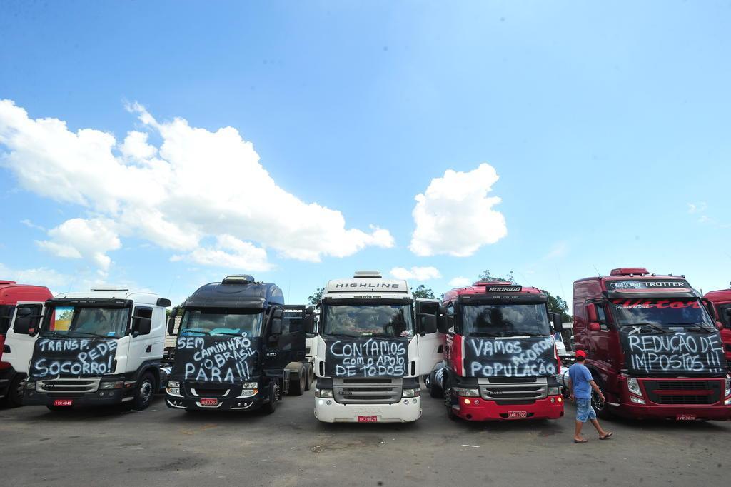 Caminhoneiros preparam paralisação a partir de segunda e cobram renúncia de Dilma Jean Pimentel/Agencia RBS