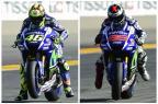 Valentino Rossi e Jorge Lorenzo disputam o acirrado título da MotoGP Montagem sobre fotos/AFP