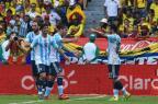 Argentina bate a Colômbia e consegue primeira vitória nas Eliminatórias Luis Acosta/AFP