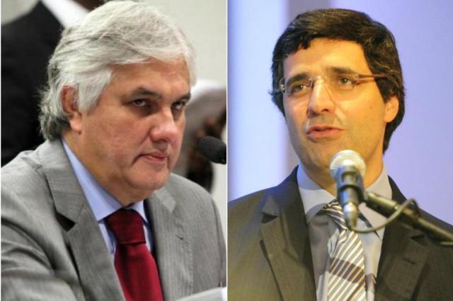Senador Delcídio do Amaral é preso na Lava-Jato Montagem sobre fotos de André Corrêa e Ronaldo Bernardi/Senado/Agência RBS
