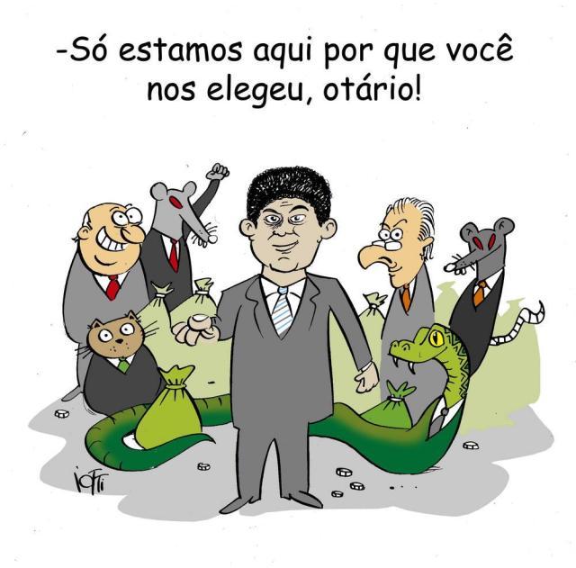 """Iotti: """"otário"""" Charge de Iotti/Agencia RBS"""