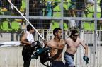 Cenas de selvageria marcam o título chileno do Colo-Colo neste domingo ANDRES PINA/AFP