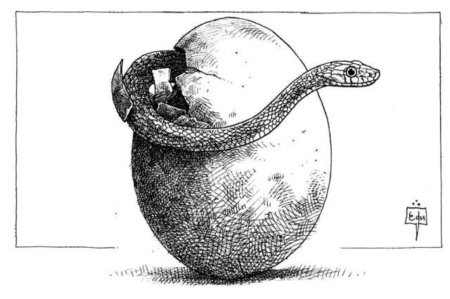 Resultado de imagem para ovo da serpente charge