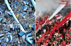 """Torcidas de Grêmio e de Inter usam hits """"Despacito"""" e """"Você Partiu Meu Coração"""" para homenagear os times Montagem sobre fotos/ Diego Vara e Ronaldo Bernardi / Agência RBS/Agência RBS"""