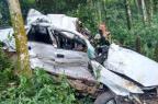 Motorista morre após carro sair da pista e colidir contra árvores em Iraí PRF/Divulgação