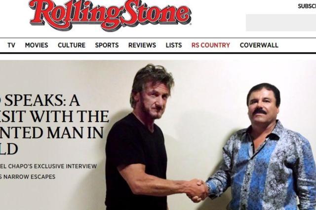 """Reunião entre Sean Penn e """"El Chapo"""" ajudou a levar à captura do narcotraficante Reprodução/Rolling Stone"""