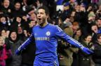 """Hazard revela a diferença entre Conte e Mourinho: """"Treino tático"""" GLYN KIRK/AFP"""