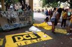 Grupo de estudantes se prepara para protestar contra o aumento da passagem em Santa Maria Bruna Taschetto/Agencia RBS