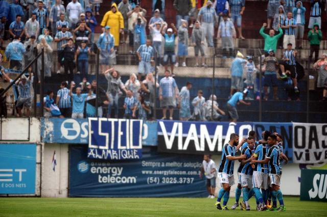De virada, Grêmio vence o Brasil-Pel por 3 a 1 em estreia no Gauchão Felipe Nyland/Agencia RBS