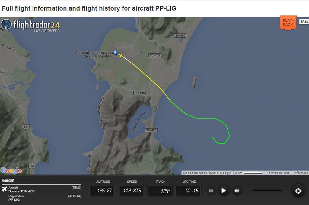 Avião cai no mar em Florianópolis