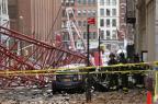 Guindaste cai em Nova York e deixa um morto e três feridos KENA BETANCUR/AFP