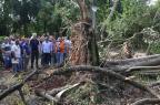 Fortunati reassume prefeitura e vistoria situação de parque destruído pela tempestade (Tadeu Vilani/Agencia RBS)