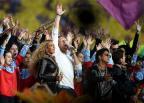 Beyoncé se apresenta com Coldplay e Bruno Mars no Super Bowl Patrick Smith / Getty Images/Getty Images