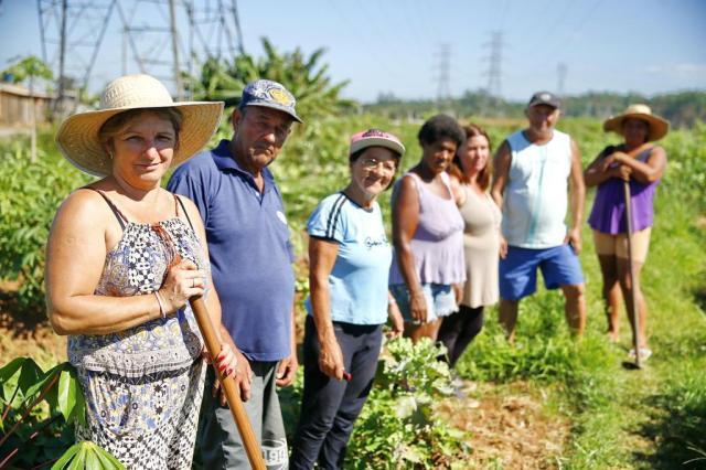 Moradores de Canoas cultivam horta em área de risco Félix Zucco/Agencia RBS