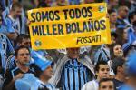 Torcedores homenageiam Miller Bolaños na Arena