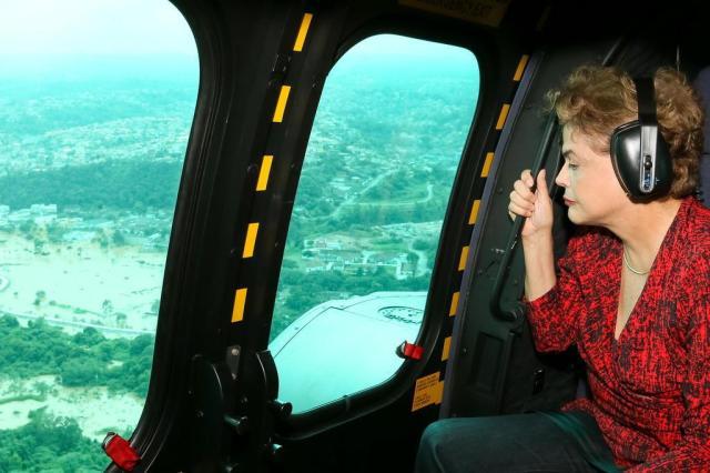 """Dilma se diz """"impressionada"""" com enchente na Grande São Paulo Roberto Stuckert Filho/Presidência da República/Divulgação"""