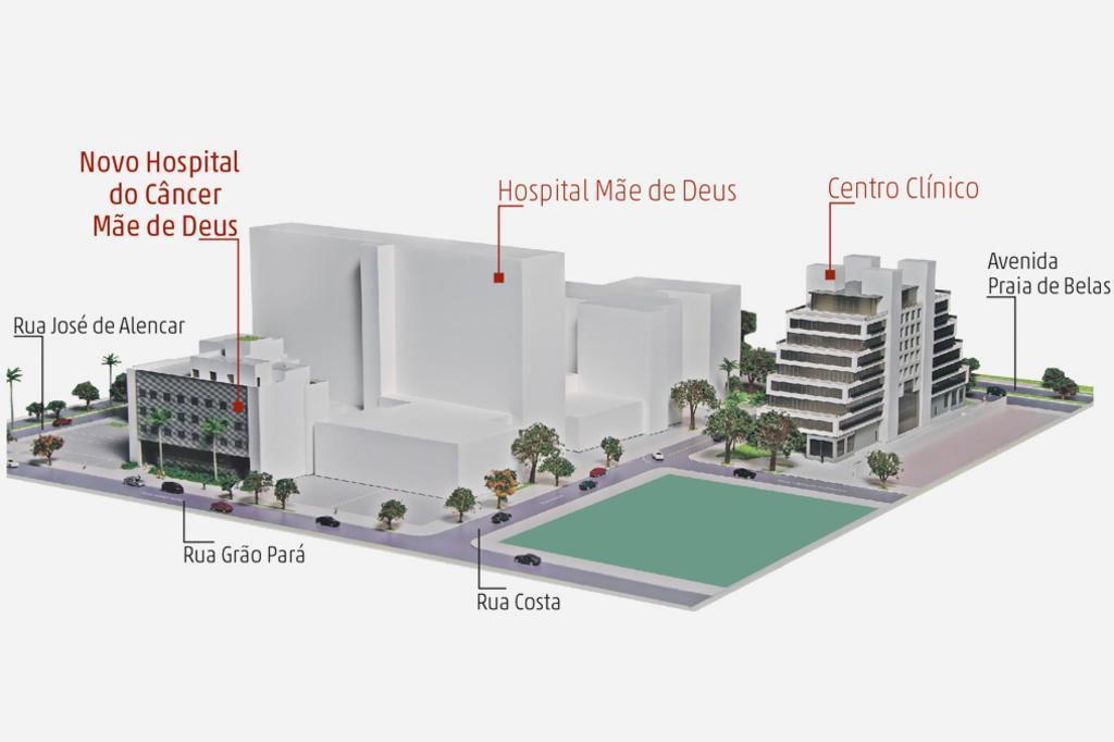 Mãe de Deus terá hospital exclusivo para tratamento de pacientes com câncer Hospital Mãe de Deus/Divulgação