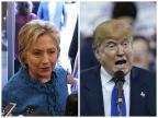 Pesquisas mostram vantagem de Hillary sobre Trump na disputa pela Casa Branca Montagem sobre fotos/AFP