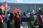 Manifestação a favor do governo em Brasília
