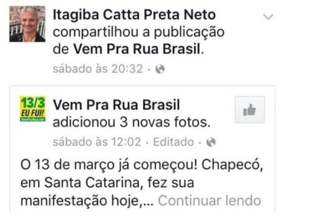 Juiz que suspendeu nomeação de Lula fez postagens contra o governo nas redes sociais Reprodução/Reprodução