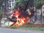 Caminhoneiro morre após veículo pegar fogo em acidente na BR-386 PRF / Divulgação/Divulgação
