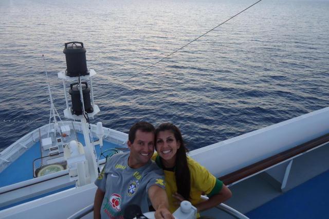 Casal conta como é viajar o mundo trabalhando em um navio de cruzeiros Casal na Estrada/Arquivo Pessoal
