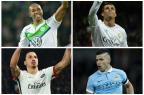 Wolfsburg x Real Madrid e PSG x Manchester City jogam nesta quarta pela Liga dos Campeões Montagem sobre fotos / AFP/AFP
