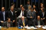 Sessão sobre o impeachment na Câmara dos Deputados