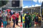 Manifestantes contra e a favor do impeachment começam a se reunir na Esplanada  Fabio Schaffner/Agência RBS